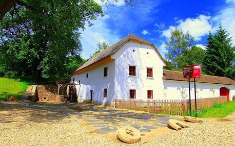 Ubytování v historickém mlýně na jižní Moravě ve všední dny s polopenzí