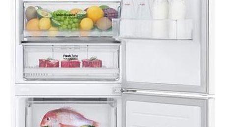 Chladnička s mrazničkou LG GBB61SWJZN bílá