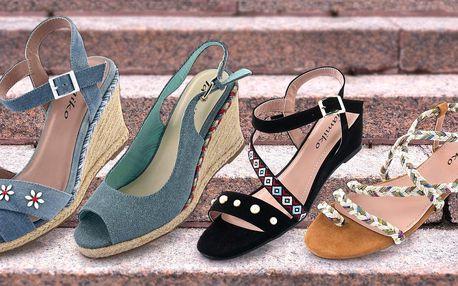Dámské sandály Tamiko: ploché nebo s klínkem