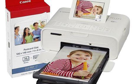 Fototiskárna Canon Selphy CP1300 + papíry KP-36 bílá