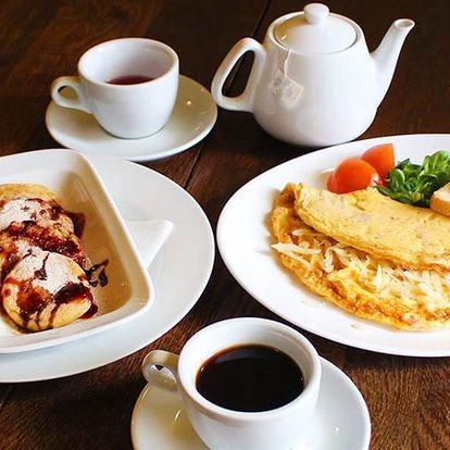 Snídaně pro 1 nebo pro 2 pod Pražským hradem