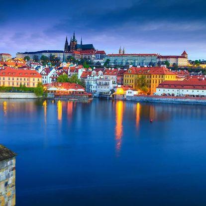 Praha romantická: snídaně, sekt, vířivka a sauna