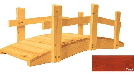 Gaboni 57269 Zahradní dřevěný můstek - 71 cm - TEAK
