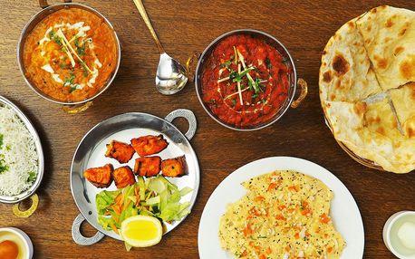 Indické menu o 3 chodech: masové i vege