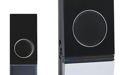 Zvonek bezdrátový Solight 1L29, do zásuvky, 200m černý/stříbrný (1L29)