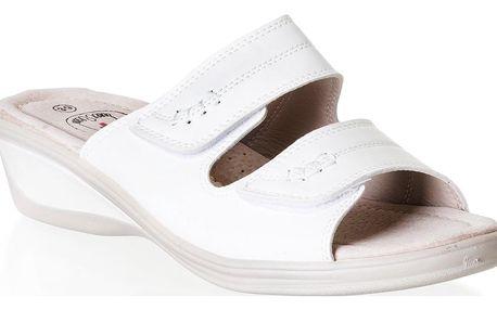 NORD Dámské pantofle zdravotní na suché zipy pro široké nohy