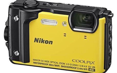 Digitální fotoaparát Nikon Coolpix W300, Holiday Kit žlutý (VQA072K001)
