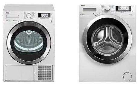 Set (Automatická pračka Beko Superia WMY 71243 CS PTLMB1) + (Sušička prádla Beko DPY 8506 GXB1) + DOPRAVA ZDARMA