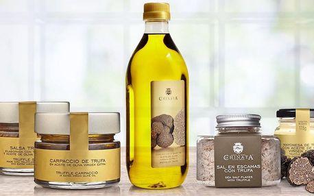 Španělský lanýžový olej, omáčka, carpaccio i sůl
