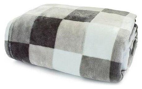 Domarex Deka XXL / Přehoz na postel Lorgia Kostka šedá, 200 x 220 cm