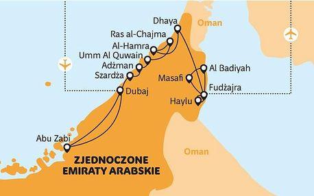 Spojené arabské emiráty - Dubaj letecky z Polska na 8 dnů, snídaně v ceně