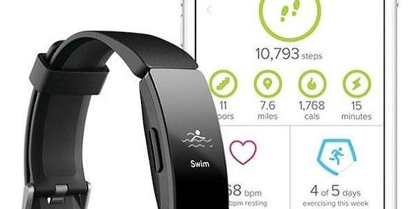 Fitness náramek Fitbit Inspire HR - Black (FB413BKBK)3
