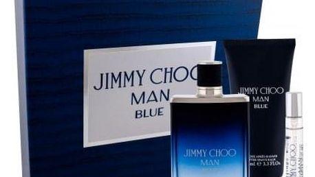 Jimmy Choo Jimmy Choo Man Blue dárková kazeta pro muže toaletní voda 100 ml + toaletní voda 7,5 ml + balsam po holení 100 ml