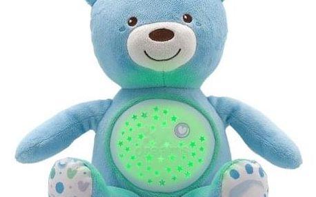 CHICCO Medvídek s projektorem - modrá