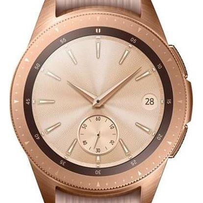 Chytré hodinky Samsung Galaxy Watch 42mm růžové (SM-R810NZDAXEZ)