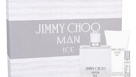 Jimmy Choo Jimmy Choo Man Ice dárková kazeta pro muže toaletní voda 100 ml + balzám po holení 100 ml + toaletní voda 7,5 ml