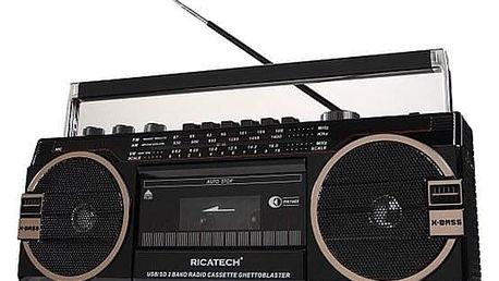 Radiomagnetofon Ricatech PR1980 Ghettoblaster černý (416919)