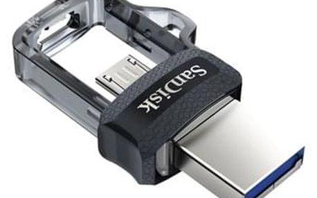 USB Flash Sandisk Ultra Dual m3.0 128GB OTG MicroUSB/USB 3.0 černý (SDDD3-128G-G46)