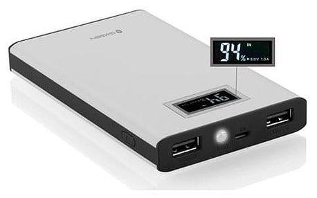 Powerbank GoGEN 8000mAh, display černá/bílá (GOGPBD80005WB)