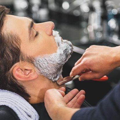 Klasický pánský střih včetně holení hot towel