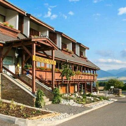 Liptov v Hotelu Rendez-Vous *** s polopenzí, wellness a vstupem do Tatralandie
