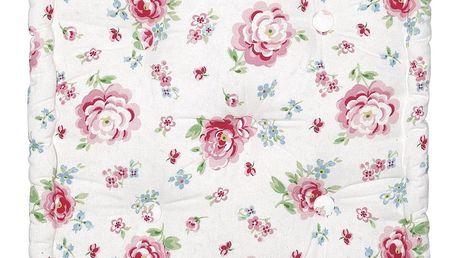 GREEN GATE Sedák Meryl mega white 50x50, růžová barva, textil