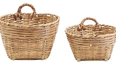 meraki Proutěný košík Tradition Větší, hnědá barva, přírodní barva, proutí