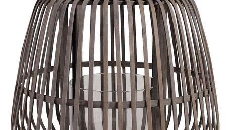 CÔTÉ TABLE Bambusová lucerna Bogawa, hnědá barva