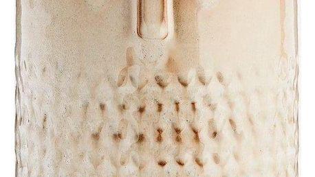 MADAM STOLTZ Keramický obal na květináč Tiny Face, béžová barva, krémová barva, keramika