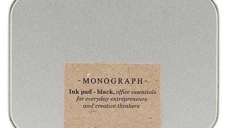 MONOGRAPH Razítková poduška Monograph - černá, šedá barva, černá barva, stříbrná barva, kov