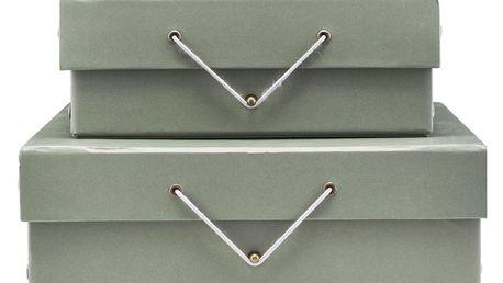 MONOGRAPH Úložný box na dokumenty Greygreen Větší, zelená barva, šedá barva, papír