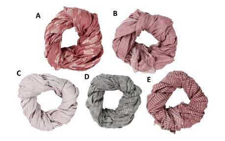 IB LAURSEN Bavlněný šátek 100x180cm D, růžová barva, textil
