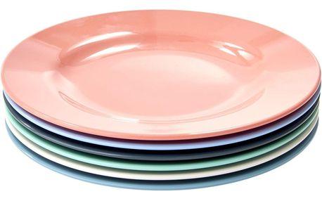 rice Melaminové talířky Happy - set 6 ks, multi barva, melamin