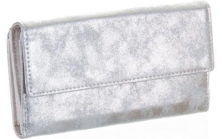 David Jones Dámská peněženka v metalické barvě velká