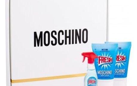 Moschino Fresh Couture dárková kazeta pro ženy toaletní voda 5 ml + sprchový gel 25 ml + tělové mléko 25 ml miniatura