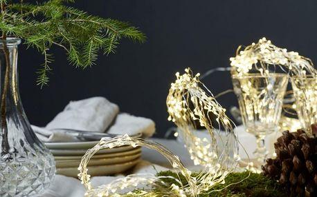 STAR TRADING Světelné dekorativní drátky Light Chain, žlutá barva, kov, plast