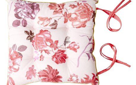 rice Bavlněný sedák Rose 40x40cm, růžová barva, textil