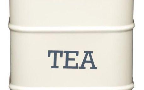 Kitchen Craft Plechová dóza na čaj Cream, krémová barva, kov