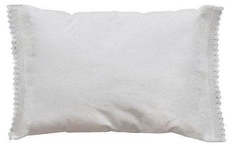 Chic Antique Bavlněný polštář Lace Edge, bílá barva, textil