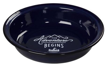 GENTLEMEN'S HARDWARE Hluboký smaltovaný talíř Adventure Blue, modrá barva, smalt