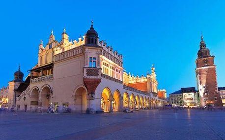 Krakov v historickém centru + dítě zdarma