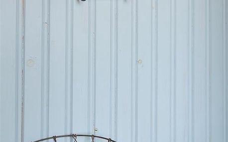 Jeanne d'Arc Living Kovový držák na toaletní papír Roll Holder, hnědá barva, dřevo, kov