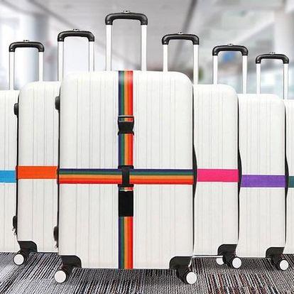 Stahovací popruhy na cestovní kufry: 4 barvy