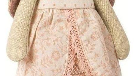 Maileg Králičí princezna Rose - mini, růžová barva, béžová barva, textil