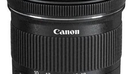 Canon EF-S EF-S 10-18 mm f/4.5-5.6 IS STM + EW73C + LC kit černý (9519B009)