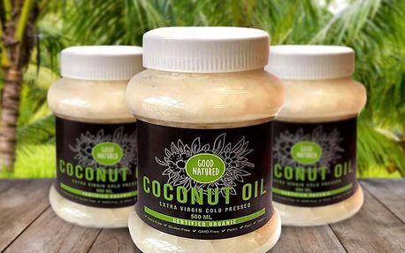 Extra panenský kokosový olej s příjemnou vůní
