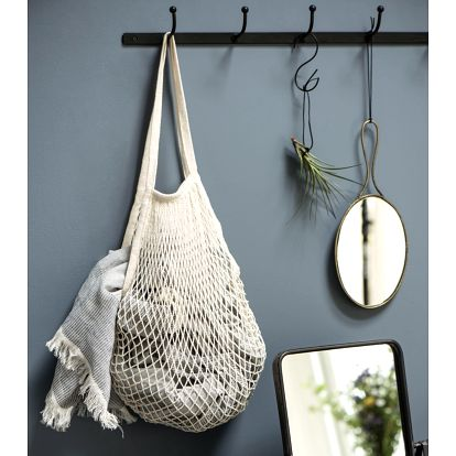 IB LAURSEN Nákupní taška síťovka 4 barvy Bílá, růžová barva, modrá barva, šedá barva, bílá barva, textil