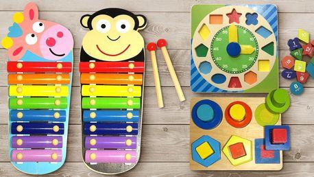 Dřevěné naučné hračky pro rozvoj motoriky