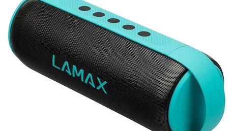 Přenosný reproduktor LAMAX MusiCan1 černý/tyrkysový + dárky Sluchátka BML H-series H9 černá + Příslušenství LAMAX pro Sentine/street černé
