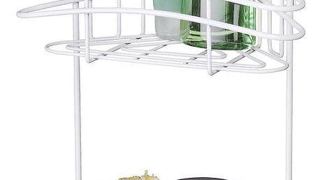 Koupelnová rohová police CLASSIC PLUS do sprchového koutu - 2 úrovně, WENKO
